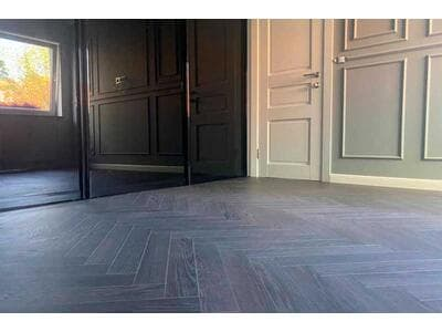 Ламинат Berry Alloc Chateau и кварцвиниловая плитка Moduleo на частном объекте