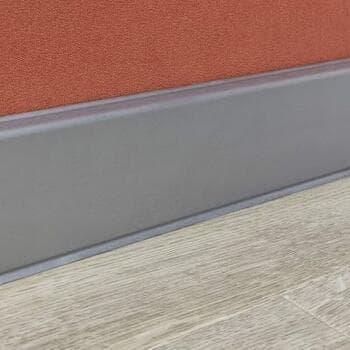 Плинтус HDF Cubu flex life 60, платина-серебро 60x13x2500мм