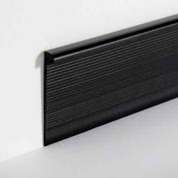 Профиль завершающий для заведения на стену ПВХ покрытий, EL3,5 черный 35x5x4000мм