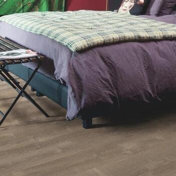 Кварц-виниловая плитка QuickStep Дуб песчаный теплый коричневый Pulse Click PUCL40086